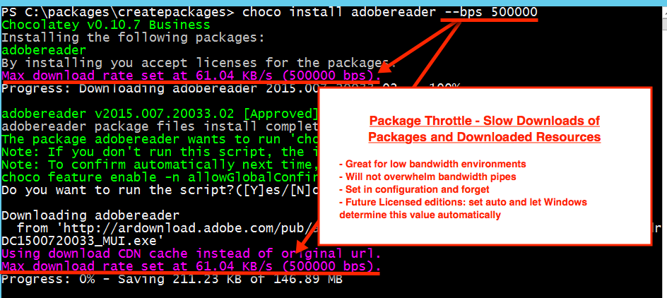 Package Throttle downloading a package and resources - - if you are on https://docs.chocolatey.org/en-us/features/package-throttle, see commented html below for detailed description of image