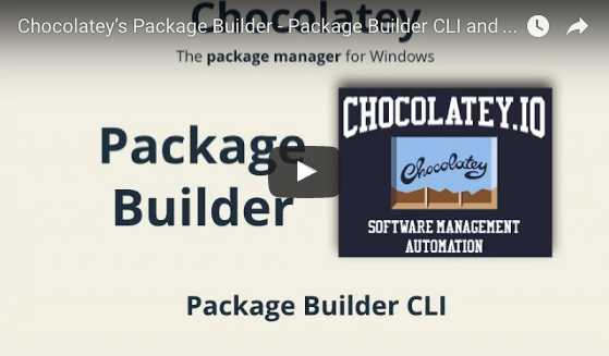 Chocolatey's Package Builder - Package Builder CLI and Scripting